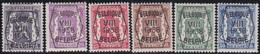 Belgie   .  OBP  .    PRE 375/380      .   **  .   Postfris . / .  Neuf Avec Gomme Et Sans Charnière - Typo Precancels 1936-51 (Small Seal Of The State)