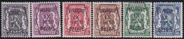 Belgie   .  OBP  .    PRE 381/386     .   **  .   Postfris . / .  Neuf Avec Gomme Et Sans Charnière - Typo Precancels 1936-51 (Small Seal Of The State)