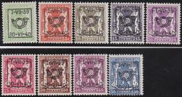 Belgie   .  OBP  .    PRE 428/436  (2 Scans)  .   **  .   Postfris . / .  Neuf Avec Gomme Et Sans Charnière - Typos 1936-51 (Petit Sceau)