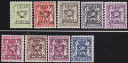 Belgie   .  OBP  .    PRE 437/445  (2 Scans)  .   **  .   Postfris . / .  Neuf Avec Gomme Et Sans Charnière - Typos 1936-51 (Petit Sceau)
