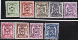 Belgie   .  OBP  .    PRE 446/454   (2 Scans)  .   **  .   Postfris . / .  Neuf Avec Gomme Et Sans Charnière - Typos 1936-51 (Petit Sceau)