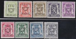 Belgie   .  OBP  .    PRE 475/483    .   **  .   Postfris . / .  Neuf Avec Gomme Et Sans Charnière - Typos 1936-51 (Petit Sceau)