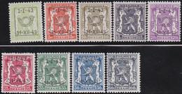 Belgie   .  OBP  .    PRE 493/501    .   **  .   Postfris . / .  Neuf Avec Gomme Et Sans Charnière - Typos 1936-51 (Petit Sceau)