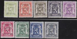 Belgie   .  OBP  .    PRE 520/528    .   **  .   Postfris . / .  Neuf Avec Gomme Et Sans Charnière - Typos 1936-51 (Petit Sceau)