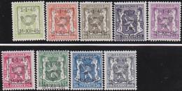 Belgie   .  OBP  .    PRE 529/537    .   **  .   Postfris . / .  Neuf Avec Gomme Et Sans Charnière - Typos 1936-51 (Petit Sceau)