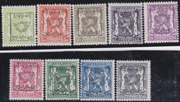 Belgie   .  OBP  .    PRE 538/546   .   **  .   Postfris . / .  Neuf Avec Gomme Et Sans Charnière - Typos 1936-51 (Petit Sceau)