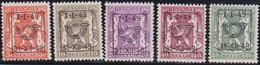 Belgie   .  OBP  .    PRE  589/593     .   **  .   Postfris . / .  Neuf Avec Gomme Et Sans Charnière - Typos 1936-51 (Petit Sceau)