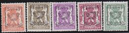 Belgie   .  OBP  .    PRE  594/598     .   **  .   Postfris . / .  Neuf Avec Gomme Et Sans Charnière - Typos 1936-51 (Petit Sceau)