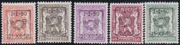 Belgie   .  OBP  .    PRE  599/603     .   **  .   Postfris . / .  Neuf Avec Gomme Et Sans Charnière - Typos 1936-51 (Petit Sceau)
