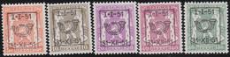 Belgie   .  OBP  .    PRE  609/613    .   **  .   Postfris . / .  Neuf Avec Gomme Et Sans Charnière - Typos 1936-51 (Petit Sceau)