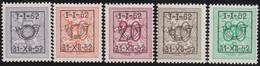 Belgie   .  OBP  .    PRE  620/624   .   **  .   Postfris . / .  Neuf Avec Gomme Et Sans Charnière - Typos 1936-51 (Petit Sceau)