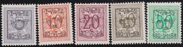 Belgie   .  OBP  .    PRE  625/629    .   **  .   Postfris . / .  Neuf Avec Gomme Et Sans Charnière - Typos 1936-51 (Petit Sceau)