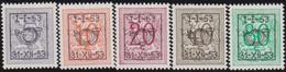 Belgie   .  OBP  .    PRE  630/634     .   **  .   Postfris . / .  Neuf Avec Gomme Et Sans Charnière - Typos 1936-51 (Petit Sceau)
