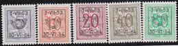 Belgie   .  OBP  .    PRE  635/639      .   **  .   Postfris . / .  Neuf Avec Gomme Et Sans Charnière - Typos 1936-51 (Petit Sceau)