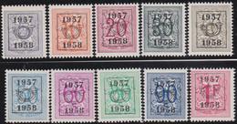 Belgie   .  OBP  .    PRE  666/675     .   **  .   Postfris . / .  Neuf Avec Gomme Et Sans Charnière - Typos 1936-51 (Petit Sceau)