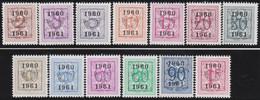 Belgie   .  OBP  .    PRE  699/711    .   **  .   Postfris . / .  Neuf Avec Gomme Et Sans Charnière - Typos 1936-51 (Petit Sceau)