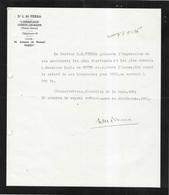 """1936 Facture Du Docteur PIERRA / """"L'Hermitage"""" 70 Luxeuil / Eté à L' Etablissement Thermal   / Hiver à Paris - 1900 – 1949"""