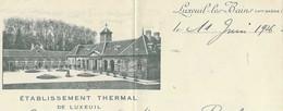 1926 Commande De 26 000 Tuiles Plates Pour L' Etablissement Thermal / 70 Luxeuil / à Pourchot Passavant - 1900 – 1949