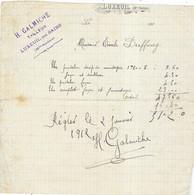 1912 / Facture Manuelle H. GALMICHE / Tailleur / 70 Luxeuil - 1900 – 1949