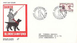 Denmark FDC 1986 Welfare Stamp - Blindesamfund (DD30-34) - FDC