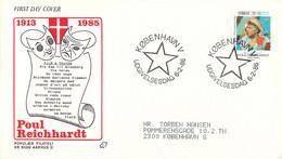 Denmark FDC 1986 Welfare Stamp   (DD30-34) - FDC