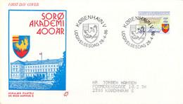 Denmark FDC 1986 Sorø Akademi  (DD30-34) - FDC