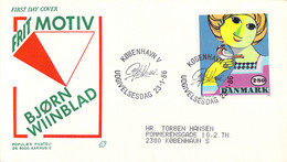 Denmark FDC 1986 Bjørn Wiinblad (DD30-34) - FDC
