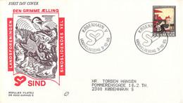 Denmark FDC 1985 Welfare Stamp Sindslidendes Vel (DD30-34) - FDC