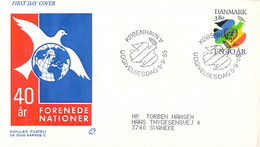 Denmark FDC 1985 United Nations 40 Years (DD30-34) - FDC
