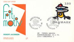 Denmark FDC 1985 Robert Jacobsen (DD30-34) - FDC