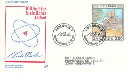 Denmark FDC 1985 Niels Bohr (DD30-34) - FDC