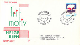 Denmark FDC 1985 Helge Refn (DD30-34) - FDC