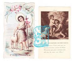 Devotie - 2x St.-Jean Baptiste / Joannes Baptista - Andachtsbilder