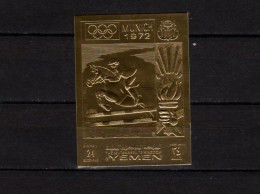Yemen Kingdom 1969 Olympic Games Munich Gold Stamp Imperf. MNH - Ete 1972: Munich