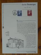Document Officiel FDC 13-532 Gaston Doumergue Franc-maçon Freemason Aigues Mortes 30 Gard 2013 - Vrijmetselarij