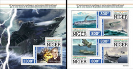 Niger 2021, WWII, Ships, Planes, 4val In BF +BF - Aviones