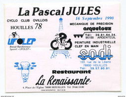 """Sticker Autocollant """"La Pascal Jules"""" Course Cycliste 1990 - Houilles 78 - Yvelines - French Cycling - Ciclismo"""