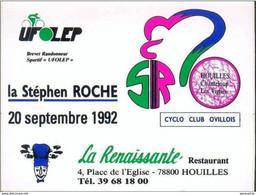 """Rare Sticker Autocollant Publicitaire """" La Stephen Roche 1992 """" Course Cycliste Houilles - Chanteloup Les Vignes Cycling - Ciclismo"""