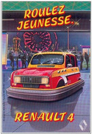 "Rare Sticker Autocollant "" Roulez Jeunesse "" Renault 4 - 4L - Cars"