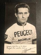J. Dumont - Peugeot Michelin - Carte / Card - Cycliste - Cyclisme - Ciclismo -wielrennen - Ciclismo