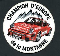 "Rare Sticker Autocollant ""Championnat D'Europe De La Montagne - Porche / Michelin""  Course Automobile - Automobilismo - F1"