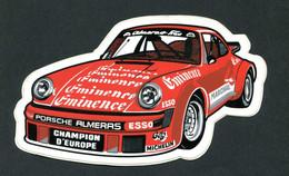 """Rare Sticker Autocollant """"Championnat D'Europe - Porche / Michelin""""  Course Automobile - Automobilismo - F1"""