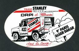 """Rare Sticker Autocollant """"9e Paris-Dakar - Team Stanley""""  Rallye - Course Automobile - Automobilismo - F1"""