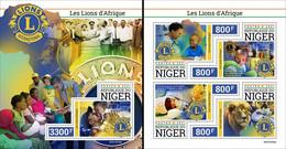 Niger 2021, Lions Club, 4val In BF +BF - Rotary, Lions Club