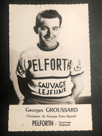 Georges Groussard - Pelforth - Carte / Card - Cycliste - Cyclisme - Ciclismo -wielrennen - Ciclismo