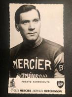 Frantz Aerenhouts - Mercier - Carte / Card - Cycliste - Cyclisme - Ciclismo -wielrennen - Ciclismo