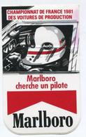 """Sticker Autocollant """"Marlboro""""  Audi - Championnat De France Des Voitures De Production 1981 - Course Automobile F1 - Automobilismo - F1"""