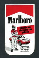"""Sticker Autocollant """"Marlboro""""  Championnat De France 1982 Des Voitures De Production - Course Automobile - Automobilismo - F1"""
