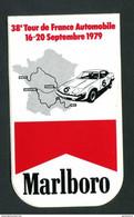 """Sticker Autocollant """"Marlboro""""  38e Tour De France Automobile - 16-20 Septembre 1979 - Course Automobile - Automobilismo - F1"""
