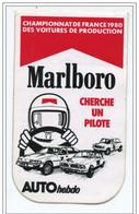 """Sticker Autocollant """"Marlboro""""  Championnat De France Des Voitures De Production 1980 - Auto Hebdo  Course Automobile F1 - Automobilismo - F1"""
